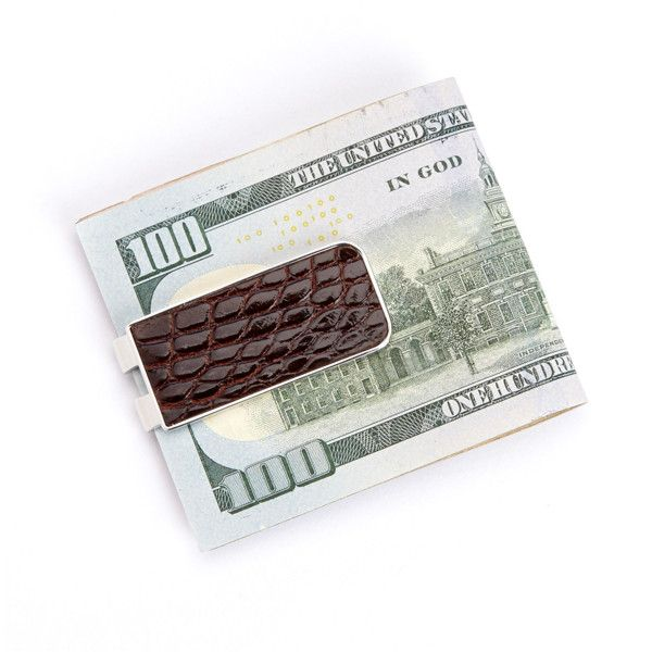 Royce New York Luxury Alligator Money Clip | Bluefly.Com ($40) ❤ liked on Polyvore featuring men's fashion, men's accessories, men's money clips, brown and money clip wallet