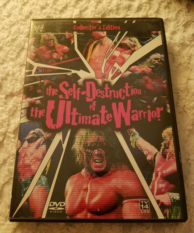 The Self-Destruction of the Ultimate Warrior - Used DVD, 2002, 2-Disc Set, WWE