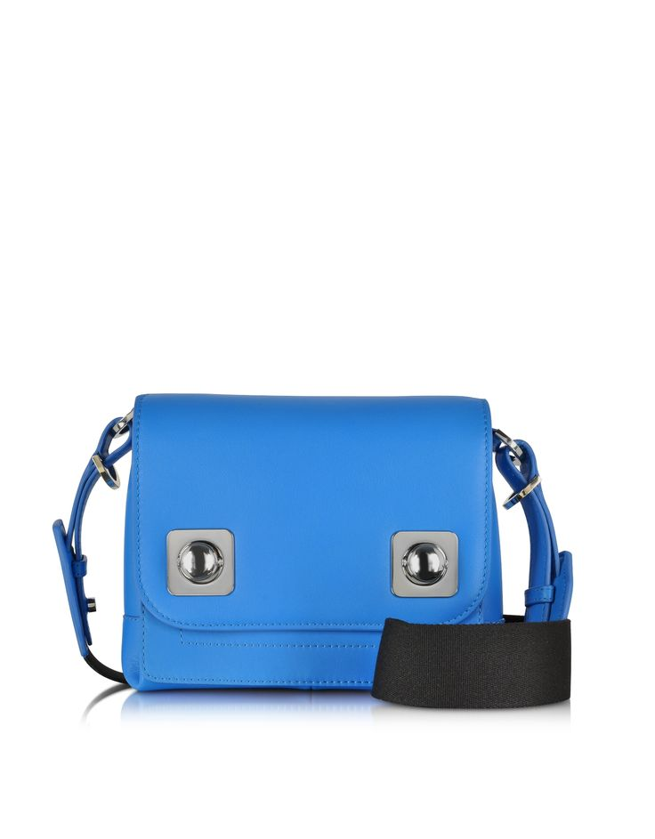 Carven Cornflower Leather Small Crossbody Bag at FORZIERI