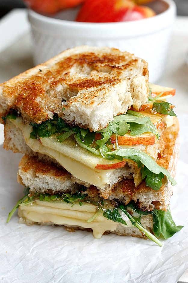 Grilled Cheese With Arugula Dried Cherries And Hazelnut Butter Recipe ...