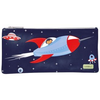 In a fun Rocket design from Bobble Art, this cool pencil Case for boys will hold everything your kid needs for school.