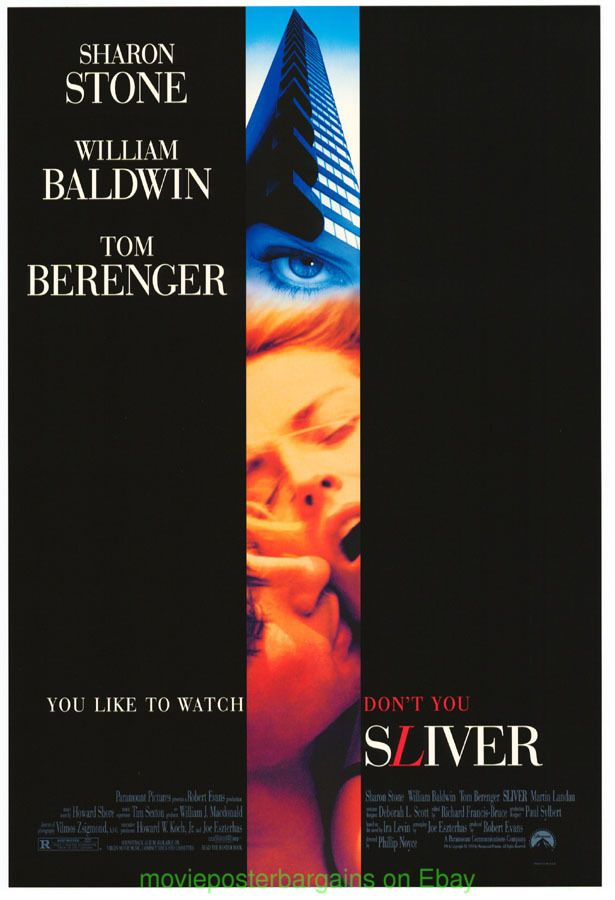 movie posters - sliver | Details about 4 SHARON STONE MOVIE POSTER GLORIA DIABOLIQUE SLIVER +?