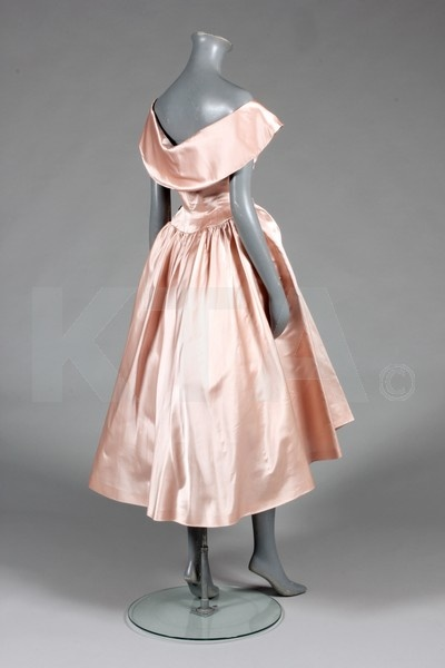 Evening Gown 1950's, Spanish, Made of satin