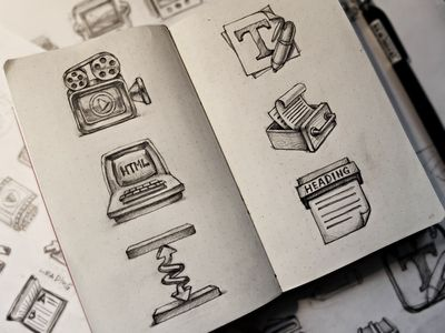 4 1x1 Beautiful Brainstorming: 25 Inspirational Icon Sketches