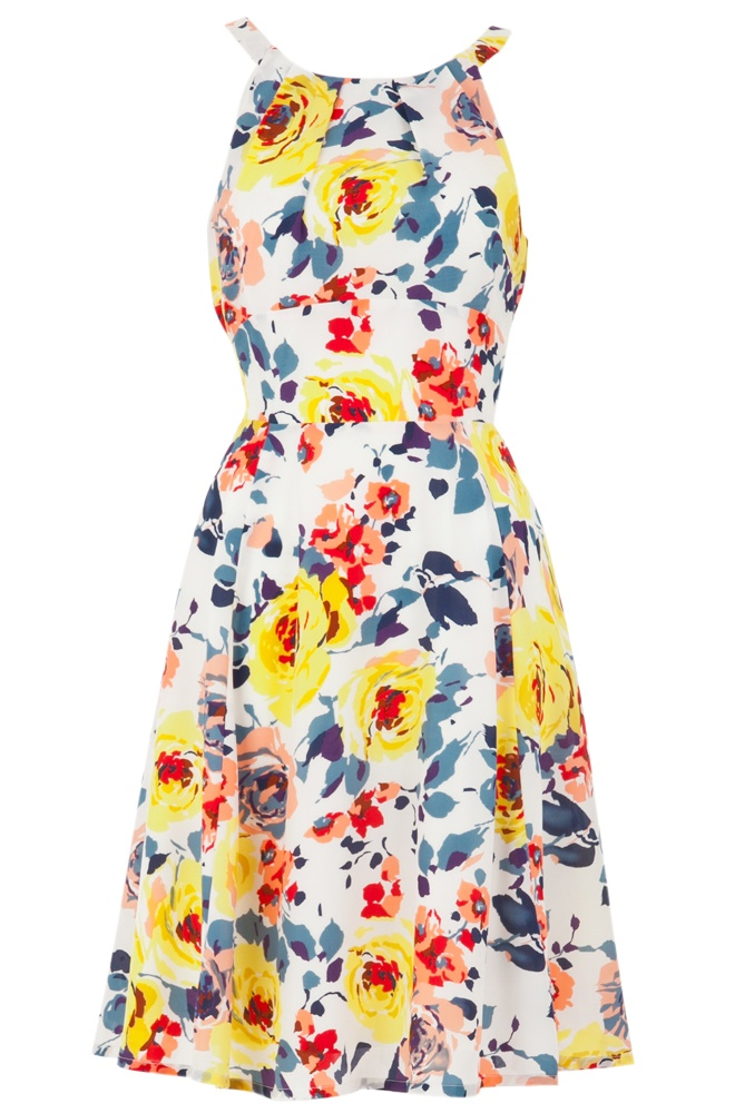 Gorgeous printed tie-waist rose dress from Joy. Perfect for summer BBQs or even just flouncing around the house...