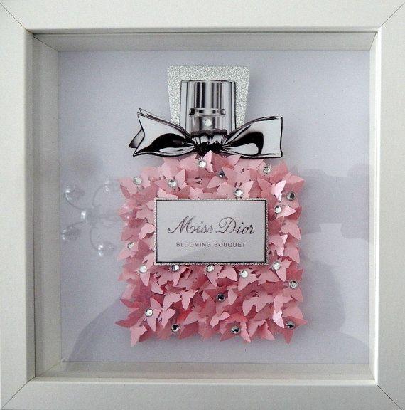 Miss Dior perfume bottle image 3d butterflies