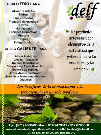 Almohadas terapeuticas Delf con hierbas aromatiicas y medicinales, Relajación, buen descanso y salud para Colombia