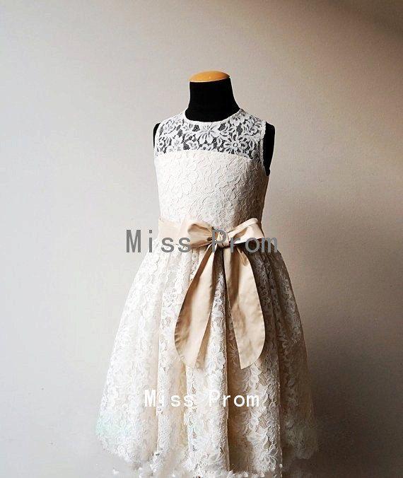 For Madeleine --- lace flower girl dress wedding flower girl dress by missprom, $38.99