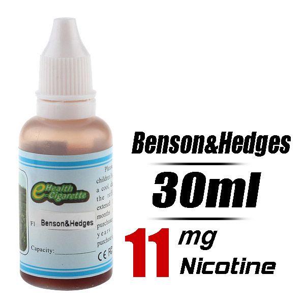 Quit Smoking 30ml Flavor strength Medium 11mg/g Electronic Cigarette Liquid (Benson&Hedges) - Harmless top quality nicotine free e-cigarette...