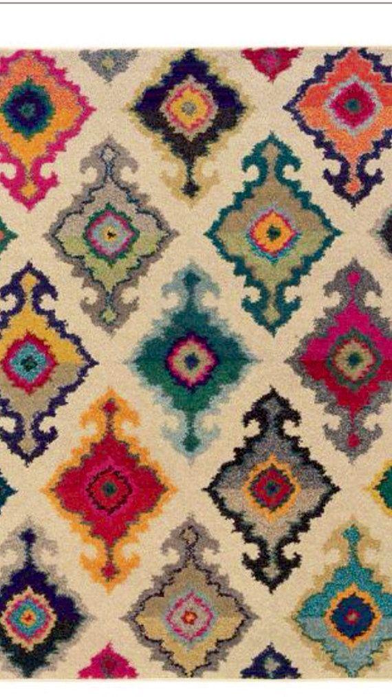 Mid Century Multi Colour Rug. Please like http://www.facebook.com/RagDollMagazine and follow @RagDollMagBlog @priscillacita