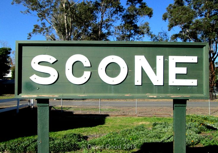 Scone Station Board on the Great Northern Railway.