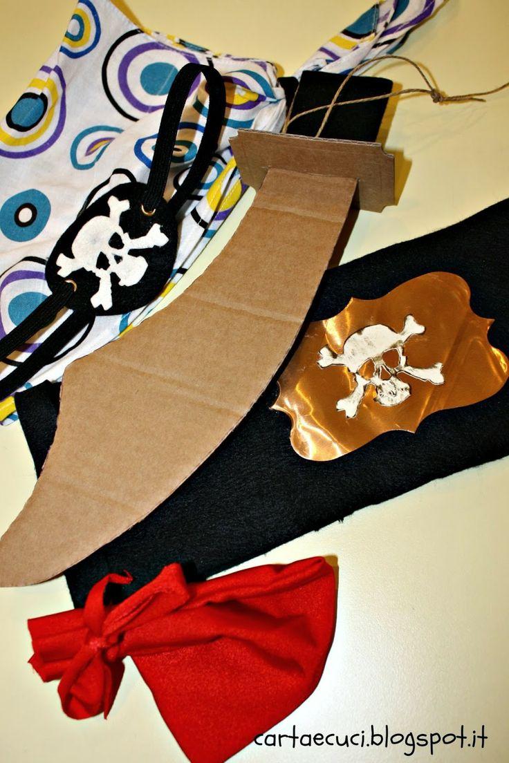 """Carta e Cuci: All'arrembaggio miei prodi! (Compleanno Edoardo - Pirati - """"Costumi"""")"""