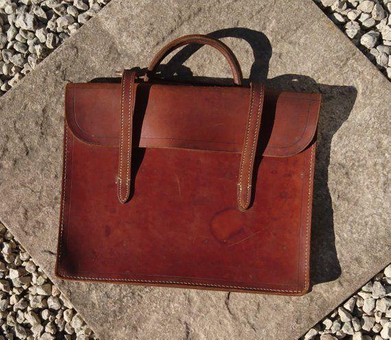 0cdf985d3d48 Vintage leather attache case, music, documents, fine English leather ...