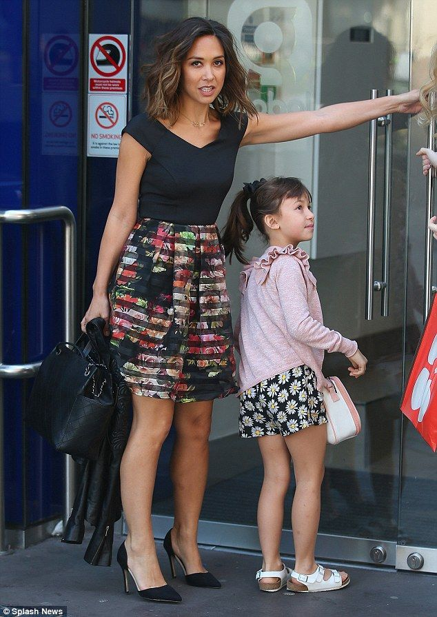 Mum and me: Myleene Klass arrived for work at the Smooth Radio studios in London with her ...