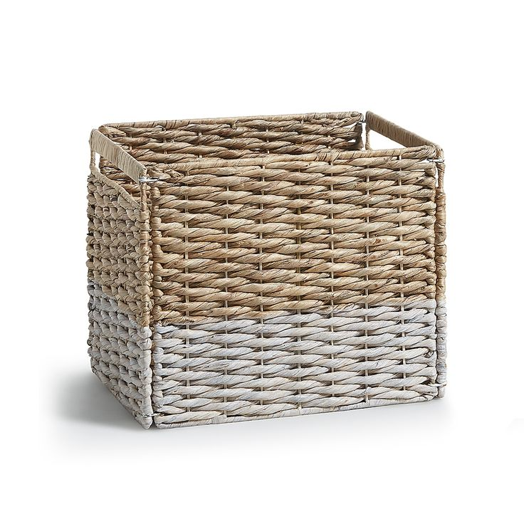 Words basket, natural and white
