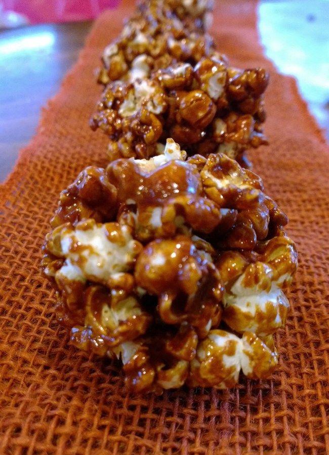 Paleo Caramel Popcorn Cones