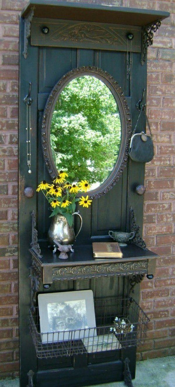 handgemacht Möbel und Dekorationen aus alten Türen spiegel regale idee