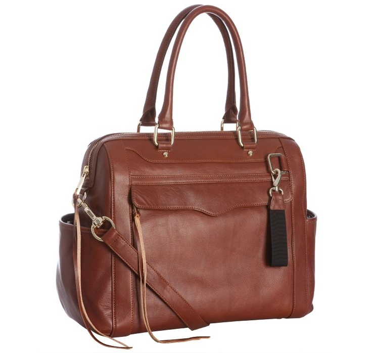 @Allison Ramsey Rebecca Minkoff     auburn leather 'Knocked Up' diaper bag with changing mat... I love it in this color! Sold out. Boo.