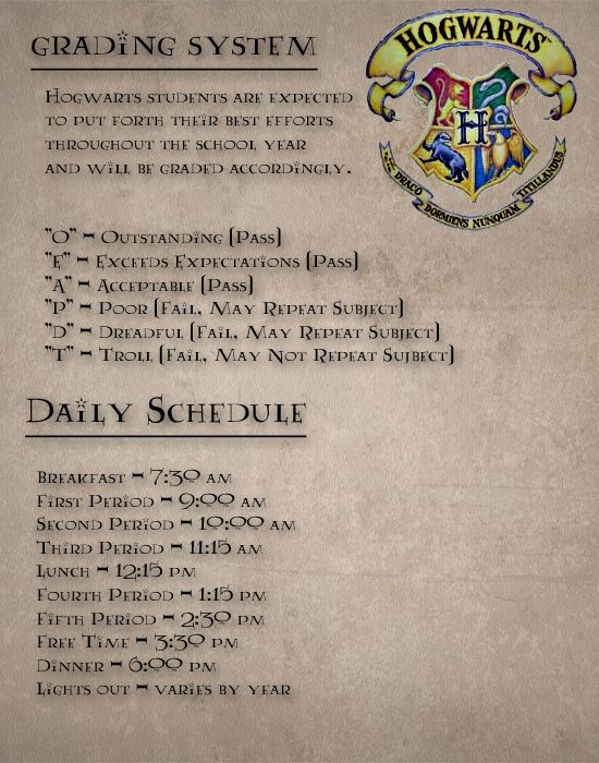 Wow! My first thought was this is cool and then I wanted to know why all the classes aren't the same length of time. I'm such a Ravenclaw.