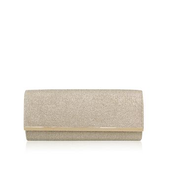 Tamera Gold Clutch Bag from Miss KG