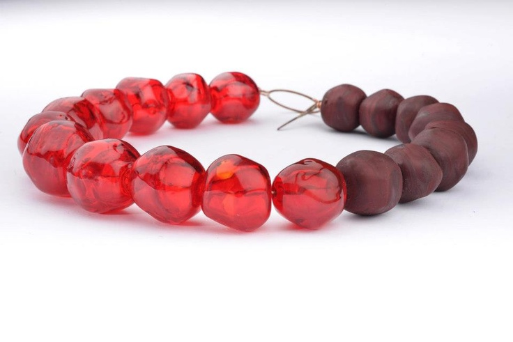 Sassi necklace - hollow glass bead - Materiaprimadesign