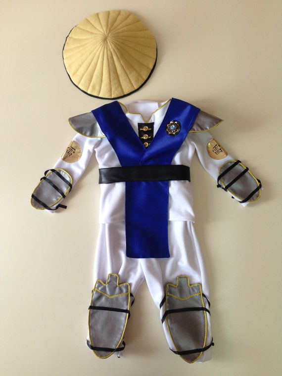 Raiden baby costume cosplay, clothes ninja Mortal kombat, Halloween costume, MK assassin fancy dresses included : - vest - pants - shirt - handcuffs - Leggings - hat Good ideas for Halloween costume ____________________________________________________________________________________ We accept installment We sew your costume only for your individual body measurements. Time for creation: 2-4 weeks. Shipping Ukrpost: 2-4 weeks / 30 $ UPS: 4-5 days / 115 $