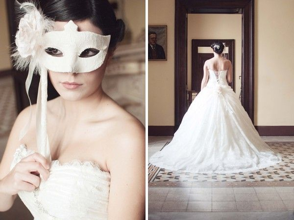 Mask -themed wedding inspiration