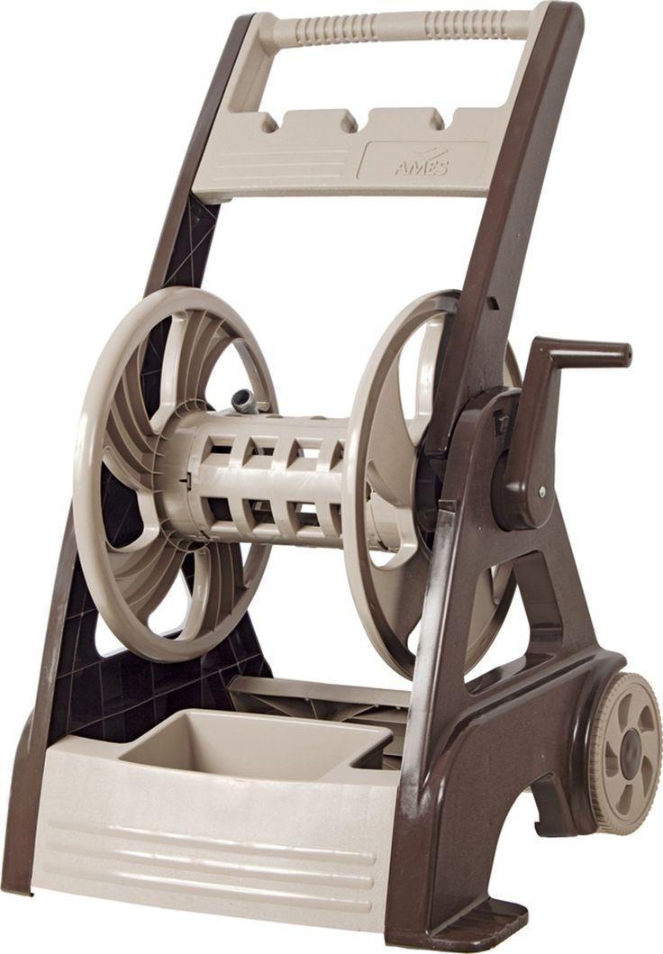 The Ames Company P Neverleak 250 Deluxe Hose Reel Cart  Tan