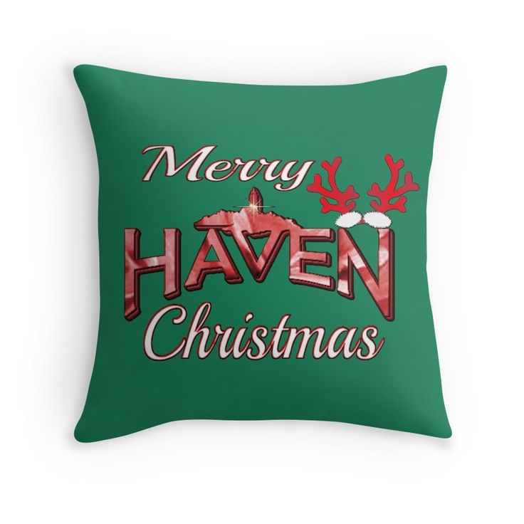 Merry Haven Christmas Logo |  Haven Syfy Inspired Pillow