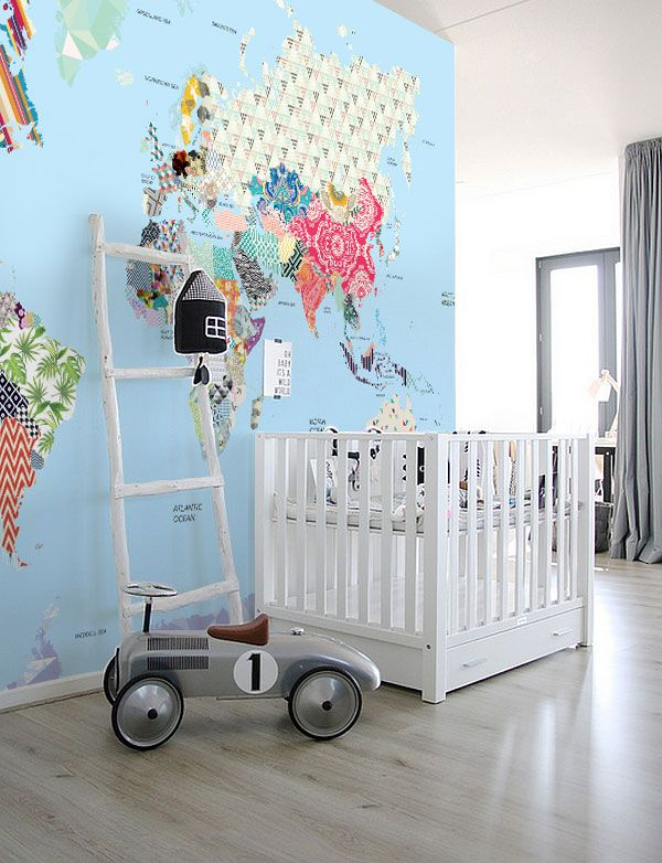 Murals wallpaperPatchwork Kids Map