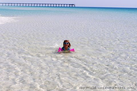 crystal clear water, Navarre Beach, Florida