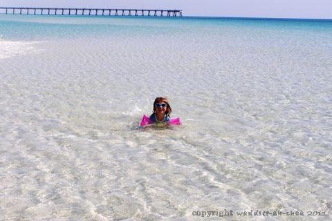 crystal clear water, Navarre Beach, Florida