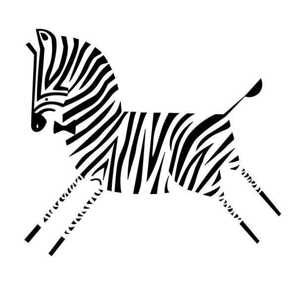 Zebra by Patrícia Mafra...I have a tattoo idea with this.......... Cute!