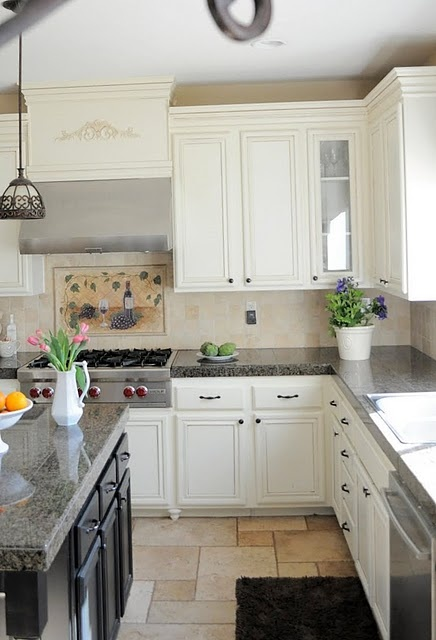 """Great tutorial on how to add decorative moulding on your """"builder grade"""" kitchen cabinets"""