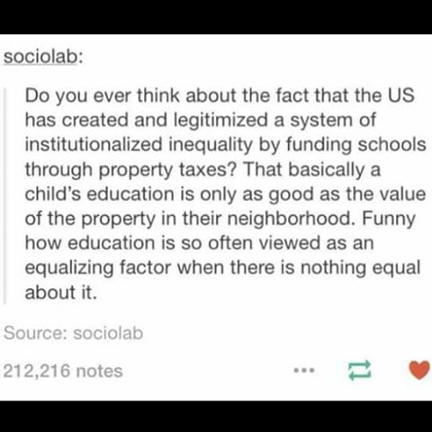 The American educational system is jacked up.