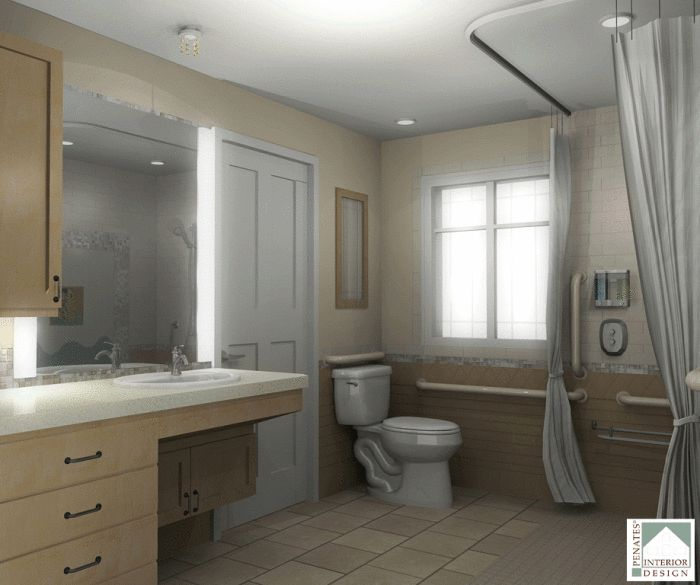 129 Best Bathroom Disabled Images On Pinterest Handicap