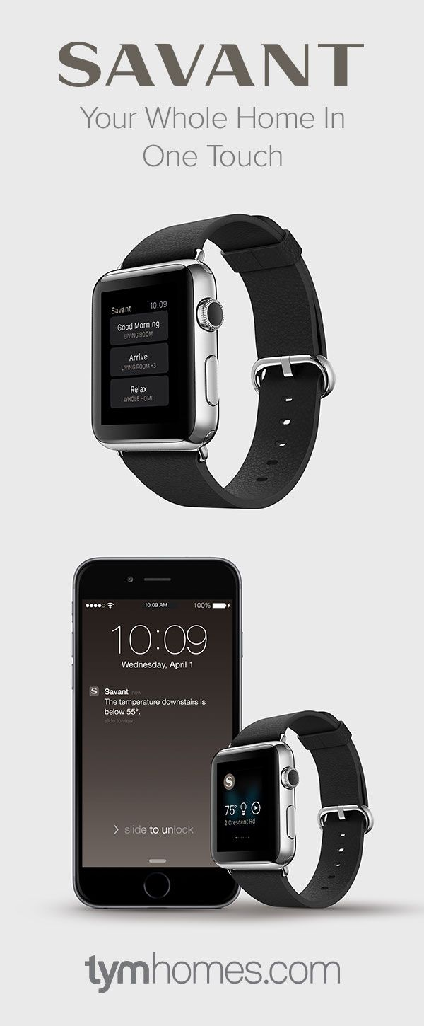 """Savant home automation is coming to Apple Watch. """"Your Whole Home In One  Touch"""