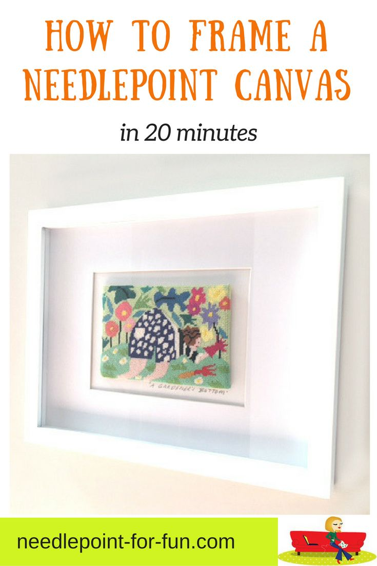How to frame a needlepoint canvas in a contemporary style in under 20 minutes.