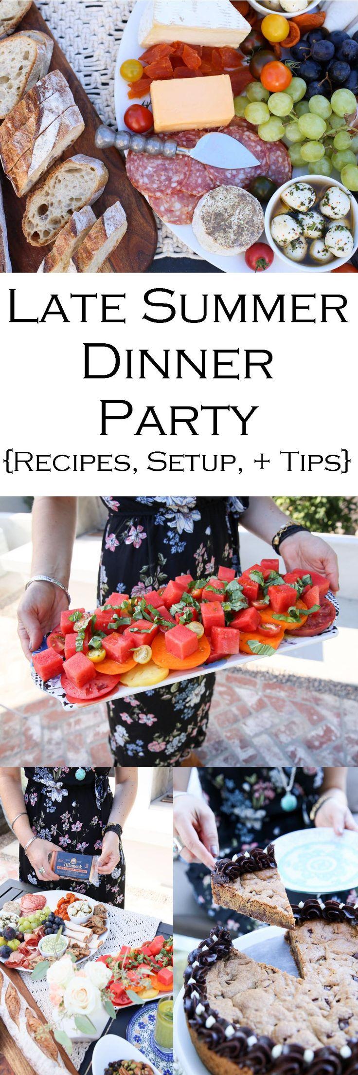 best 25 summer dinner party menu ideas on pinterest