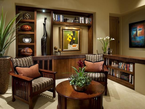Living room with wooden furniture & African art - 276 Best Images About Living Room Decor On Pinterest Peacock