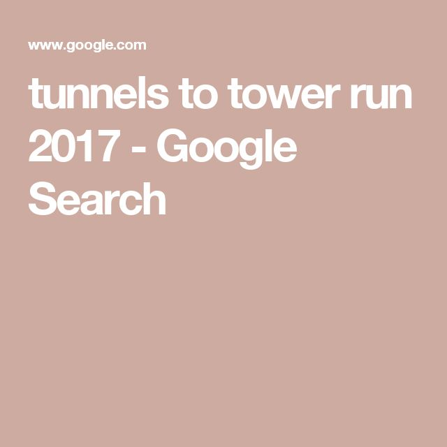 tunnels to tower run 2017 - Google Search
