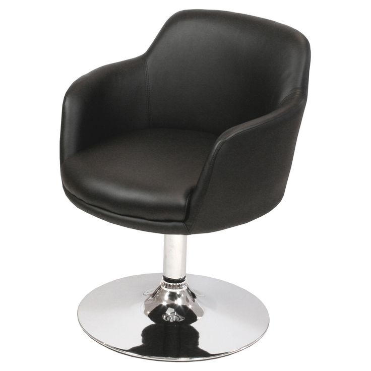 A modern, practical and beautiful swivel dining chair in the choice of three fabulous colours. Designed in a bucket style for comfort and finished in quality PU for easy cleaning. A polished chrome trumpet base completes the look. The swivel function means that once in-situ you just swivel to stand up or sit down. No need to pull the chair in or out, its easy. Could also be used in the office or bar area, as well as the dining room. A very neat and compact addition to the home.