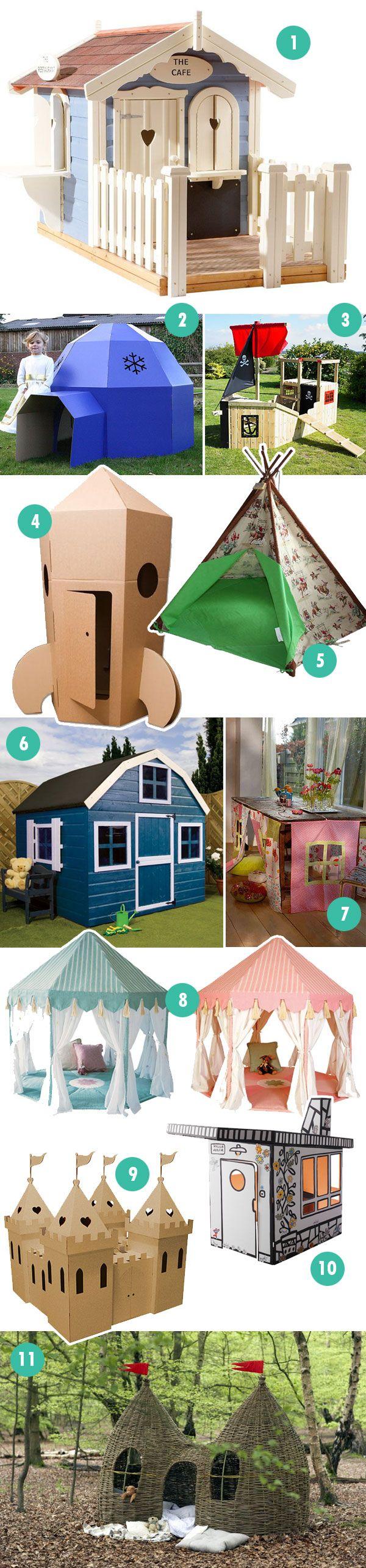 Play houses, dens, play barns, tents