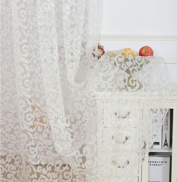 European style jacquard design home decoration modern curtain tulle