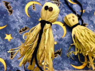 Corn Husk Ghosts and Scarecrows by gingerbread_snowflakes, via Flickr