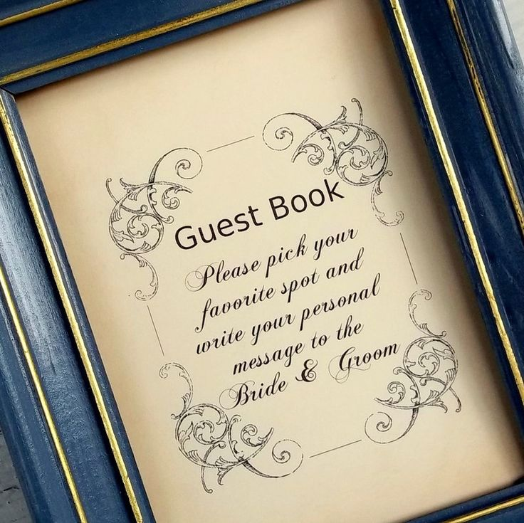 1000 Images About Guest Book Table Signs On Pinterest