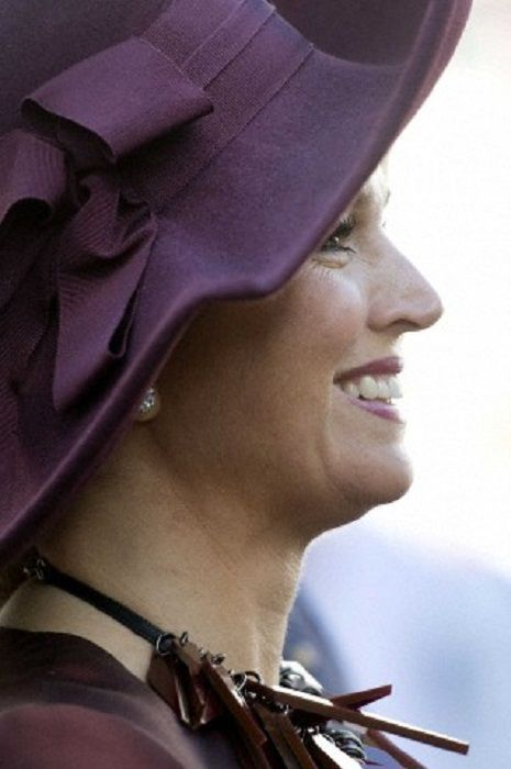 Dutch Queen Maxima smiles during the Spanish royal couple one day visit to The Netherlands on 15.10.2014 at the Noordeinde Palace in The Hague, The Netherlands