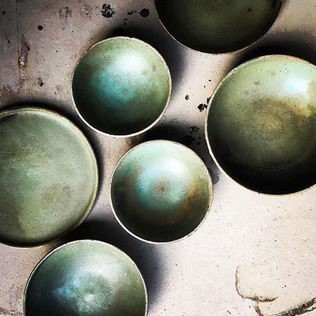 A gathering of green #lunaceramics #green #simple #handmade #ceramics