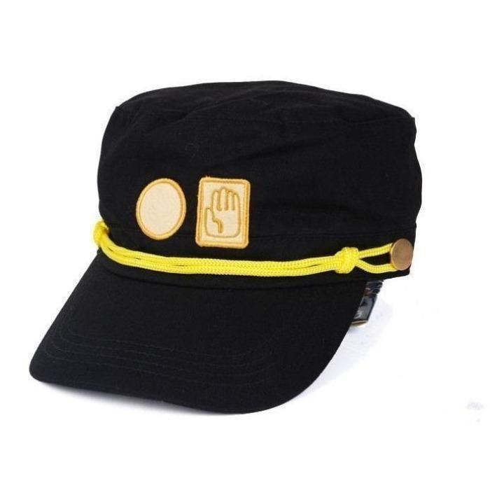 GEANBAYE Jotaro Hat Cosplay Real Type and Jotaro Bizarre Adventure Jotaro Kujo of JoJo Wind Hat Black