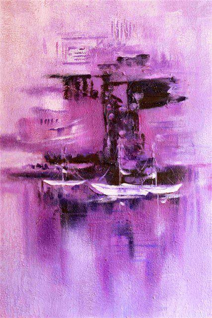 Paars schilderij, schilderijen, purple